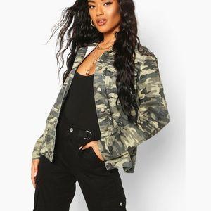 NEW Shinestar Camo Button Up Jean style Jacket XL